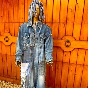 Recycled, Repurposed Levi's Handmade Long Jacket